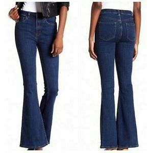 FREE PEOPLE CYNDI HIGH RISE FLARE JEANS